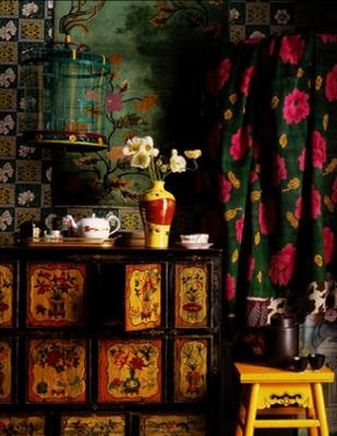 Rich colors cozy Asian