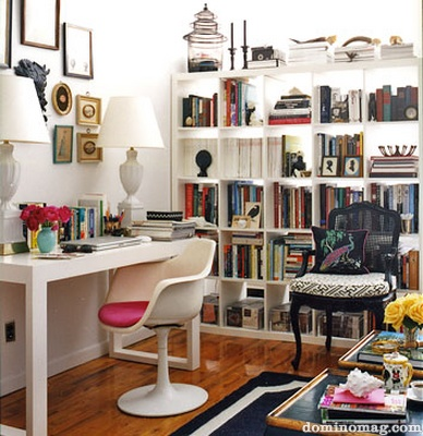 Small space desk bookshelves